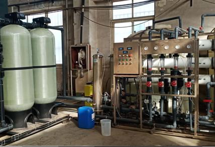 我公司更新换代的反渗透纯水系统正式开机运行